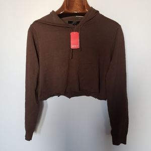 ❤ (3/$20) Forever 21 // brown cropped hoodie
